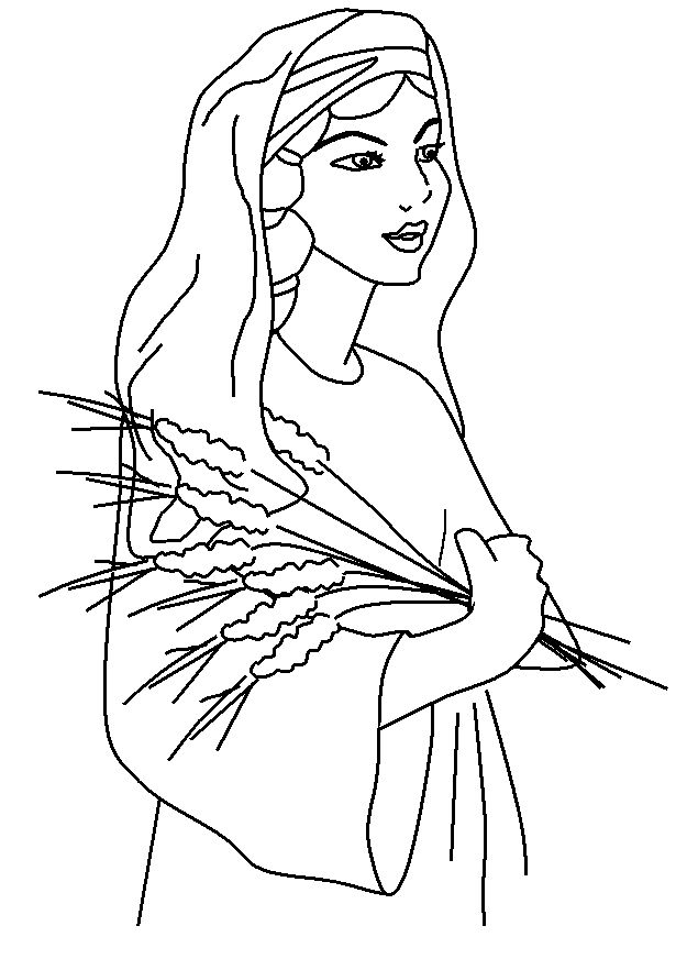 Ruth And Naomi Bible Coloring Page Sketch Coloring Page