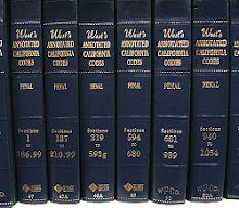 Volumes of the Thomson West annotated version of the California Penal Code, the codification of cri
