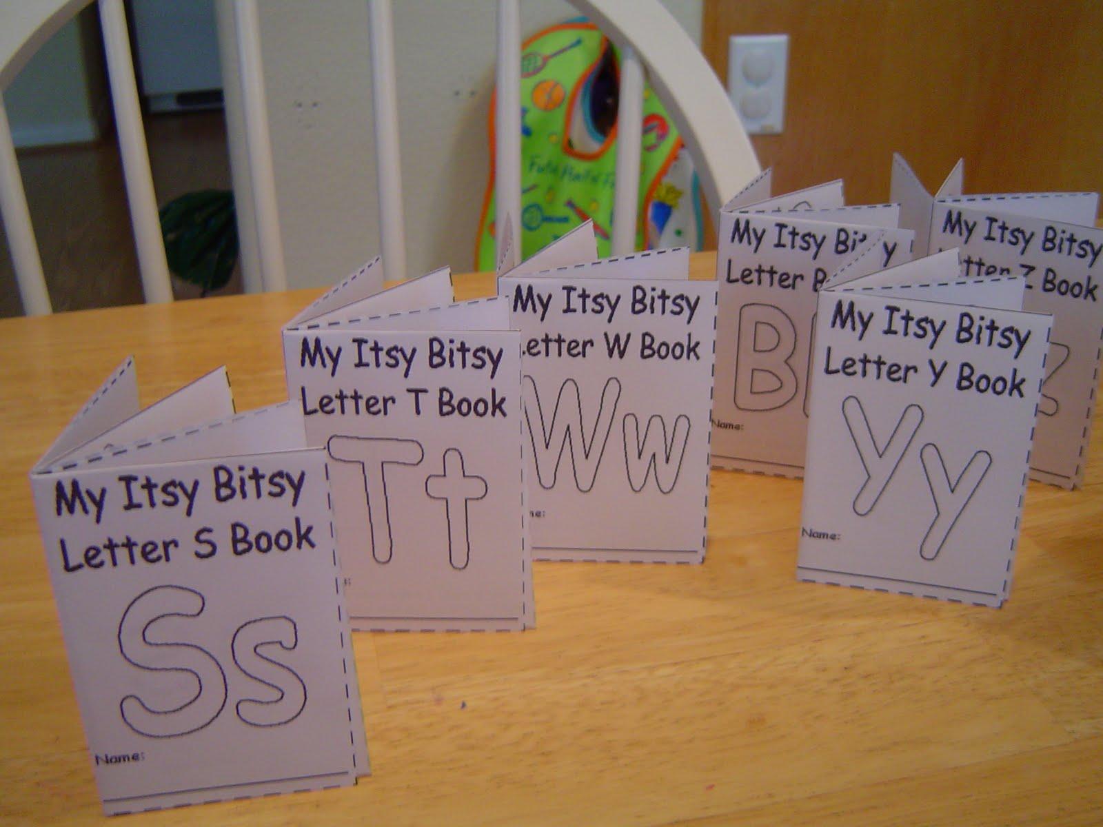 My Two Happy Homeschoolers Alphabet Mini Books