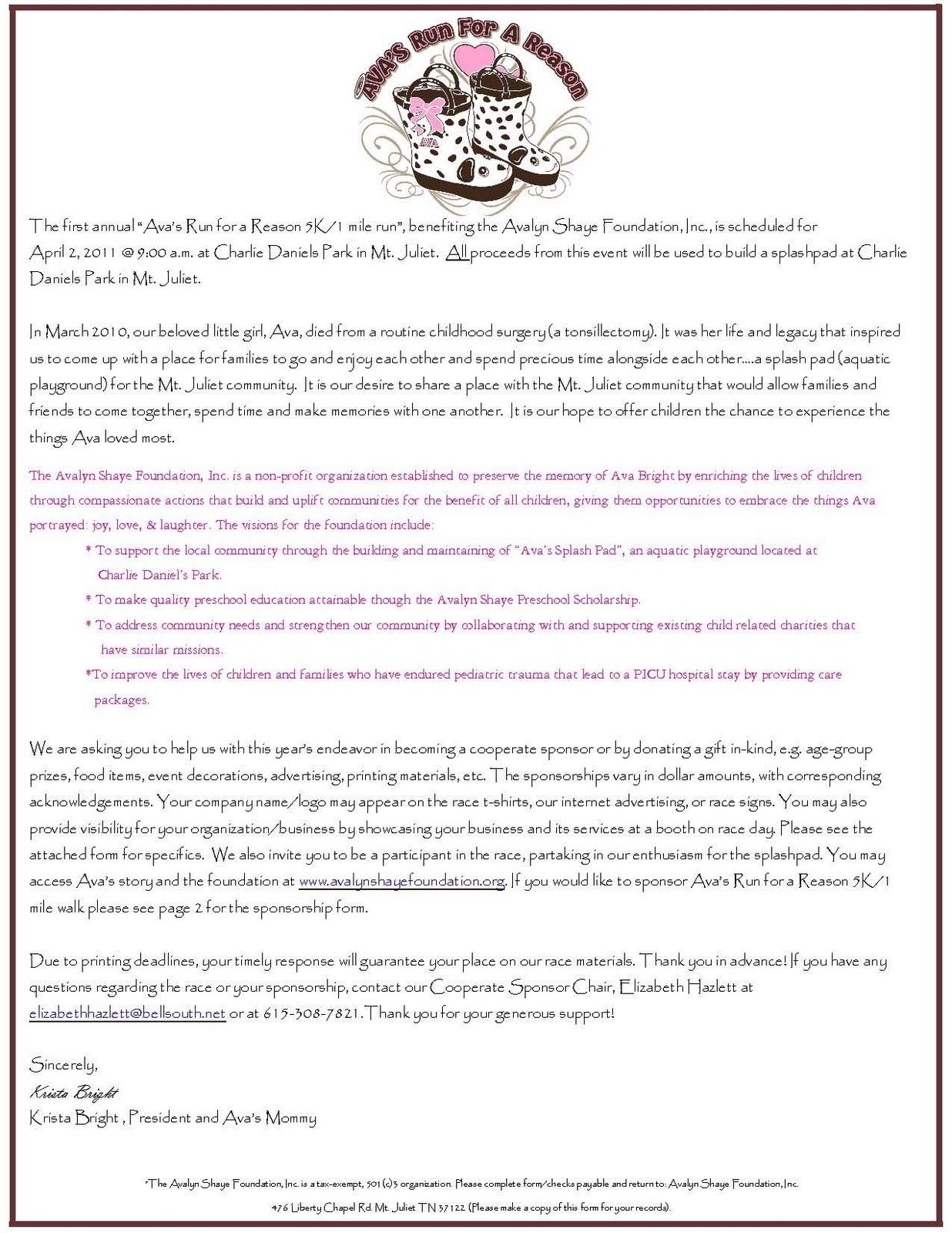 corporate sponsorship letter template sponsorship commitment form