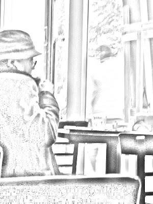 Mujer En Un   Café