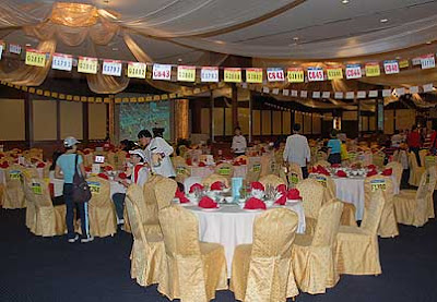 The posh banquet hall of Bangsar Seafood Garden Restaurant