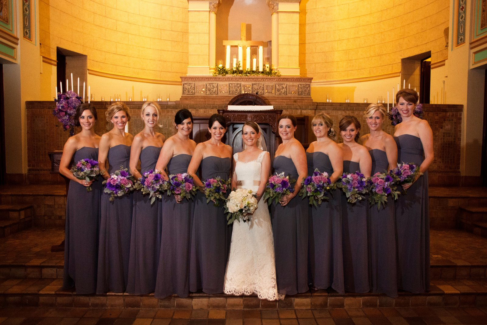 Bouquets of austin blog bouquets of austin part 13 and then there were 10 bridesmaids these gowns were a subtle shade of purplegraylavender ombrellifo Choice Image