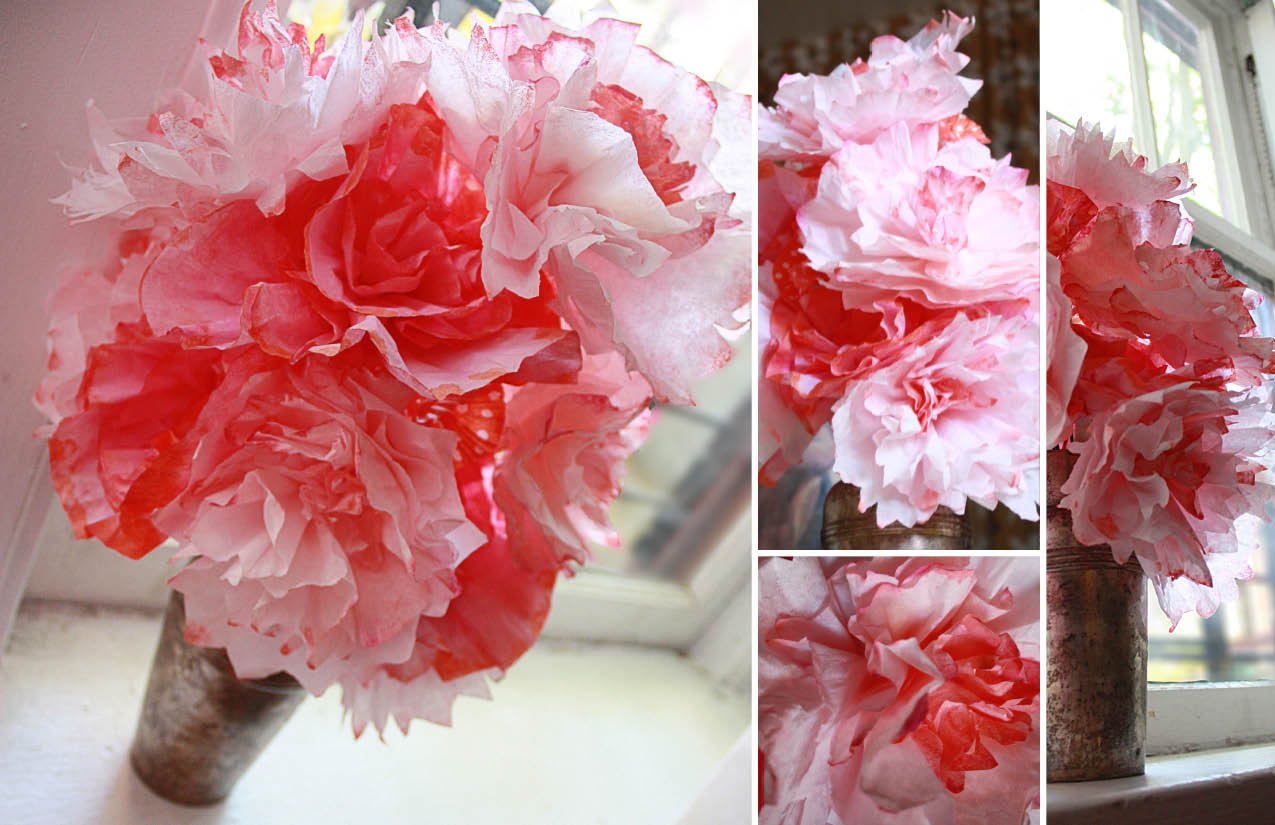 Friday Flowers: Coffee Filter Bouquet