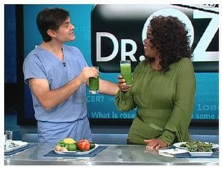 Dr. Oz and Oprah Shared a Raw Green Drink