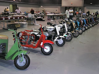 showing of Cushman motor cycles