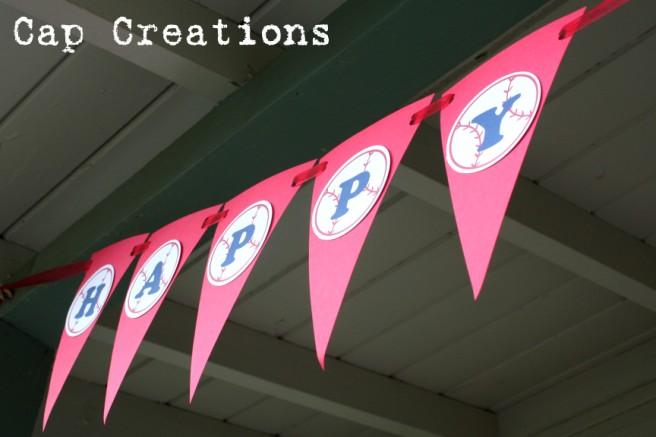 Cap Creations DIY - Happy Birthday Baseball Banner Printable