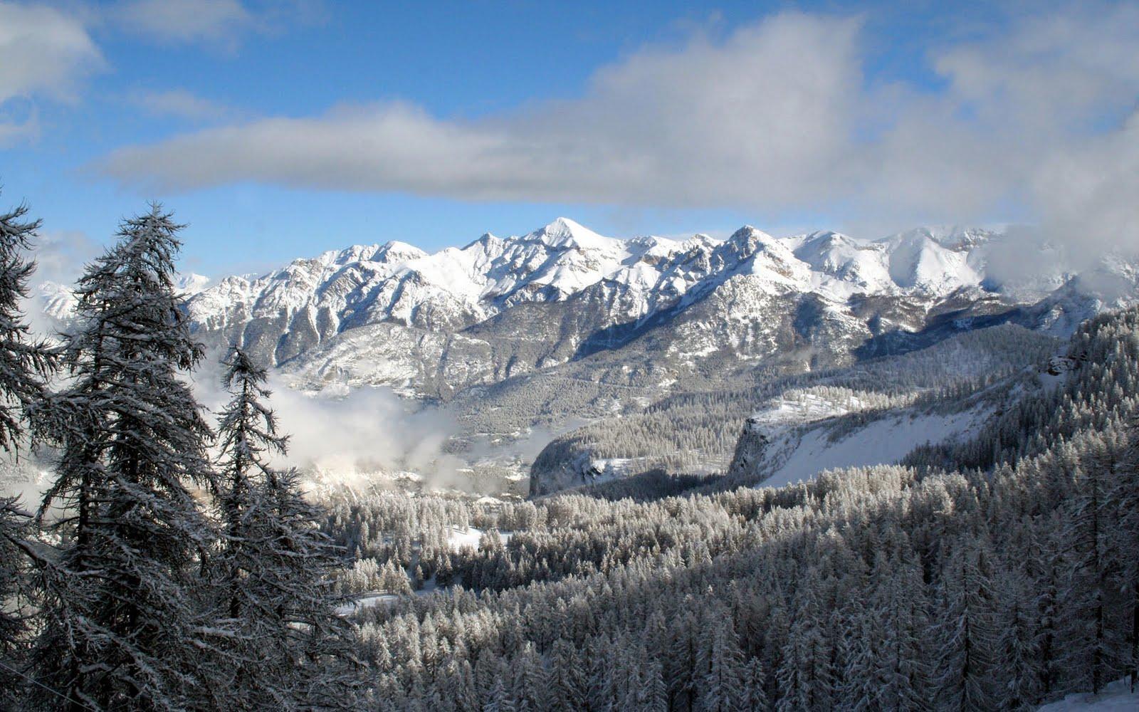 snow landscape backgrounds - photo #40