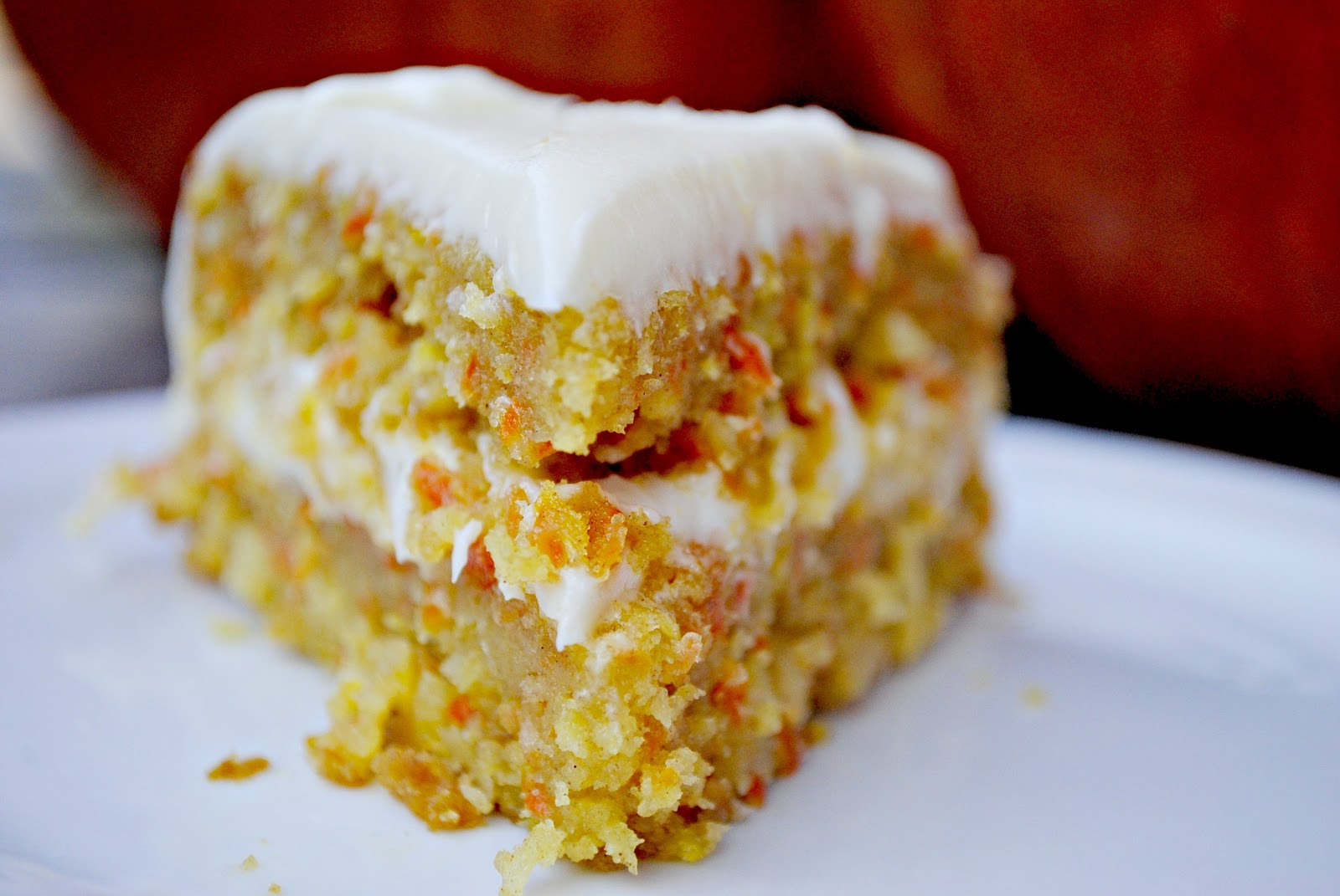 Homemade Carrot Cake With Pineapple And Coconut