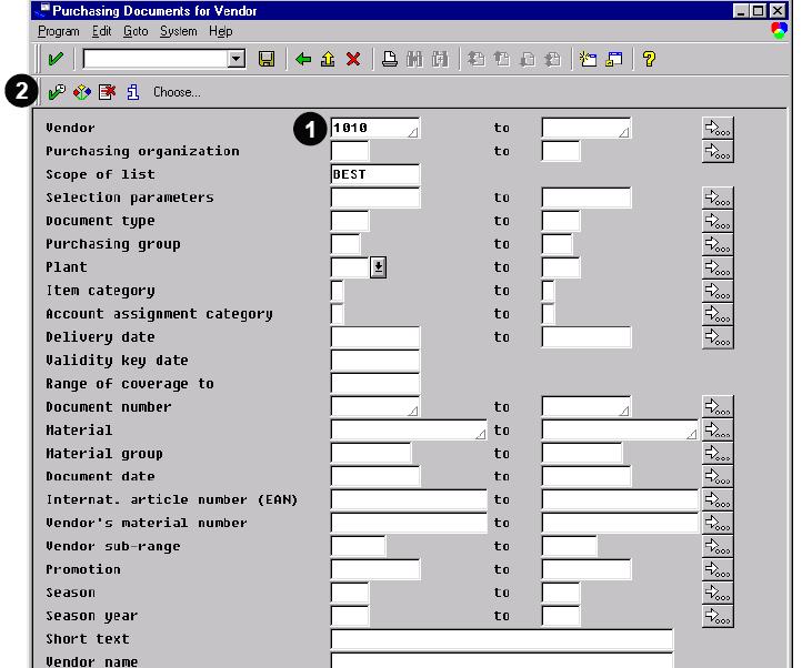 SAP ABAP Programming report in sap mm module - SAP ABAP