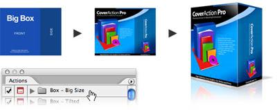 howitworks2small Cover Action Pro para Photoshop   Crie capas de CD/DVD, Livros, etc