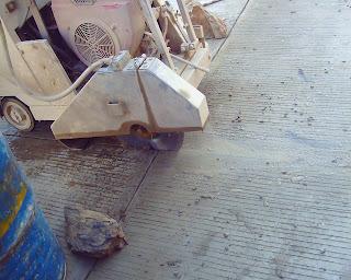 procero del cortado de juntas en pavimento rigido