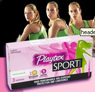 Amostra Grátis do Absorvente interno Playtex Sport
