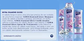 Amostra Grátis Shampoo NIVEA Diamond Gloss