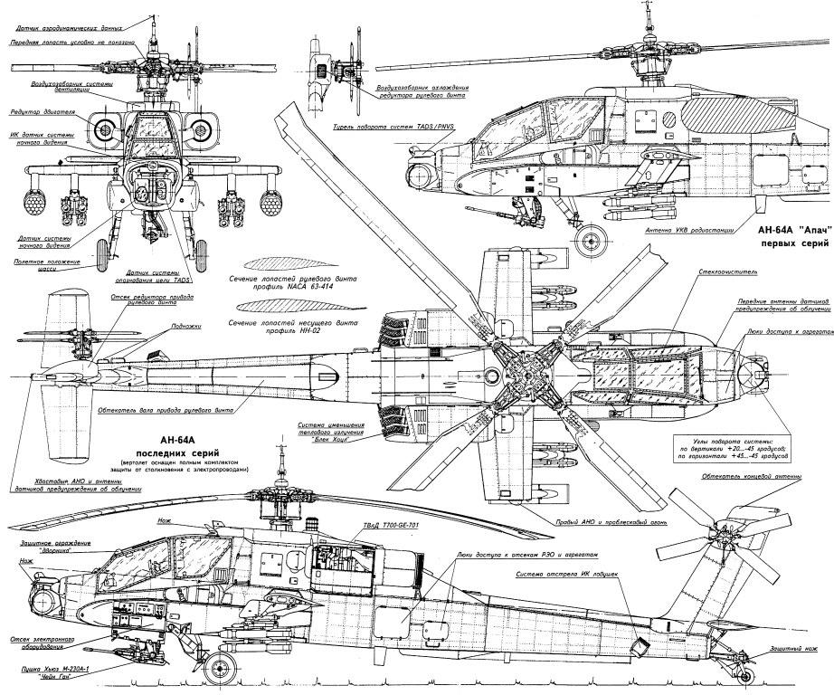 RC Chopper: AH-64 Apache Schematic