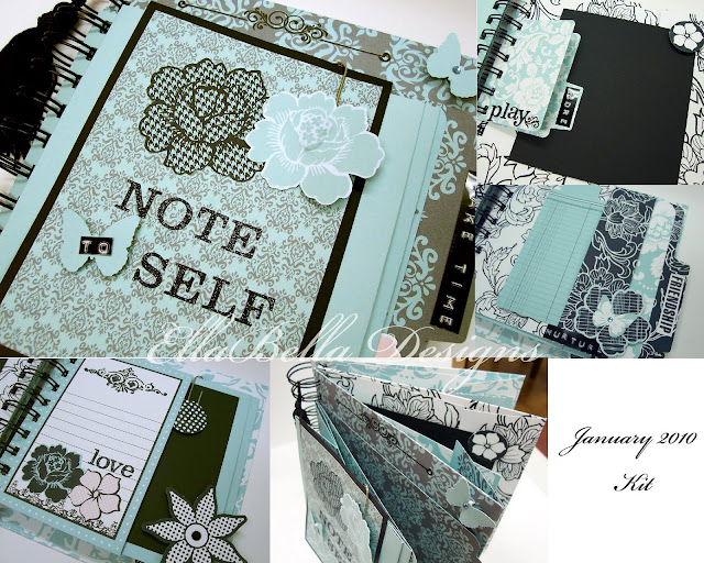 Note to Self Mini Scrapbook Album