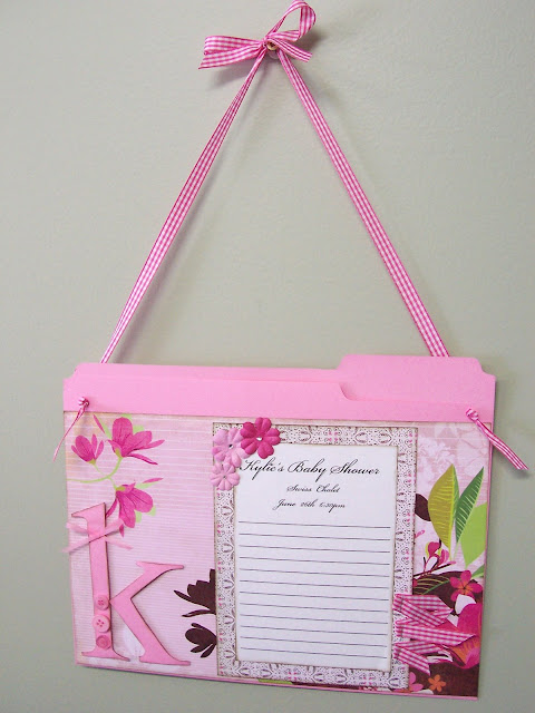 Baby Shower Sign-In Sheet and Card Holder Keepsake