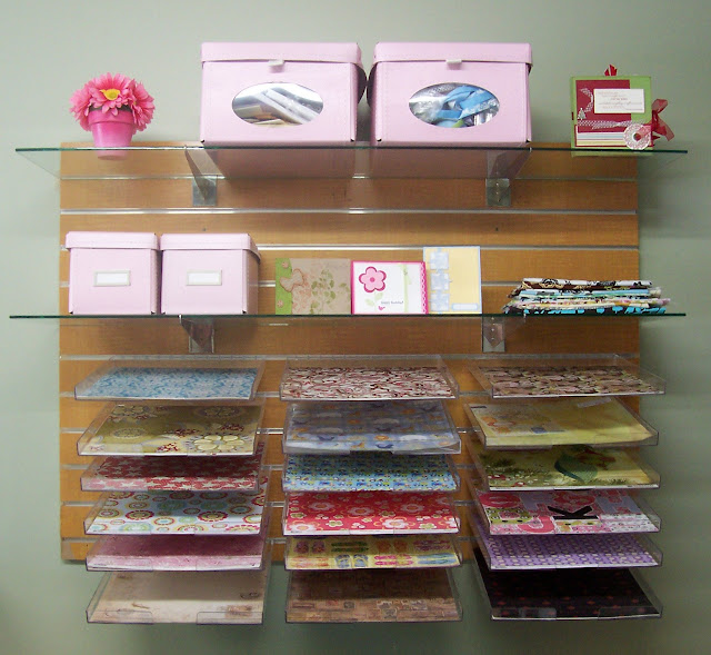 SLAT BOARD SCRAPBOOKING PAPER STORAGE SOLUTION