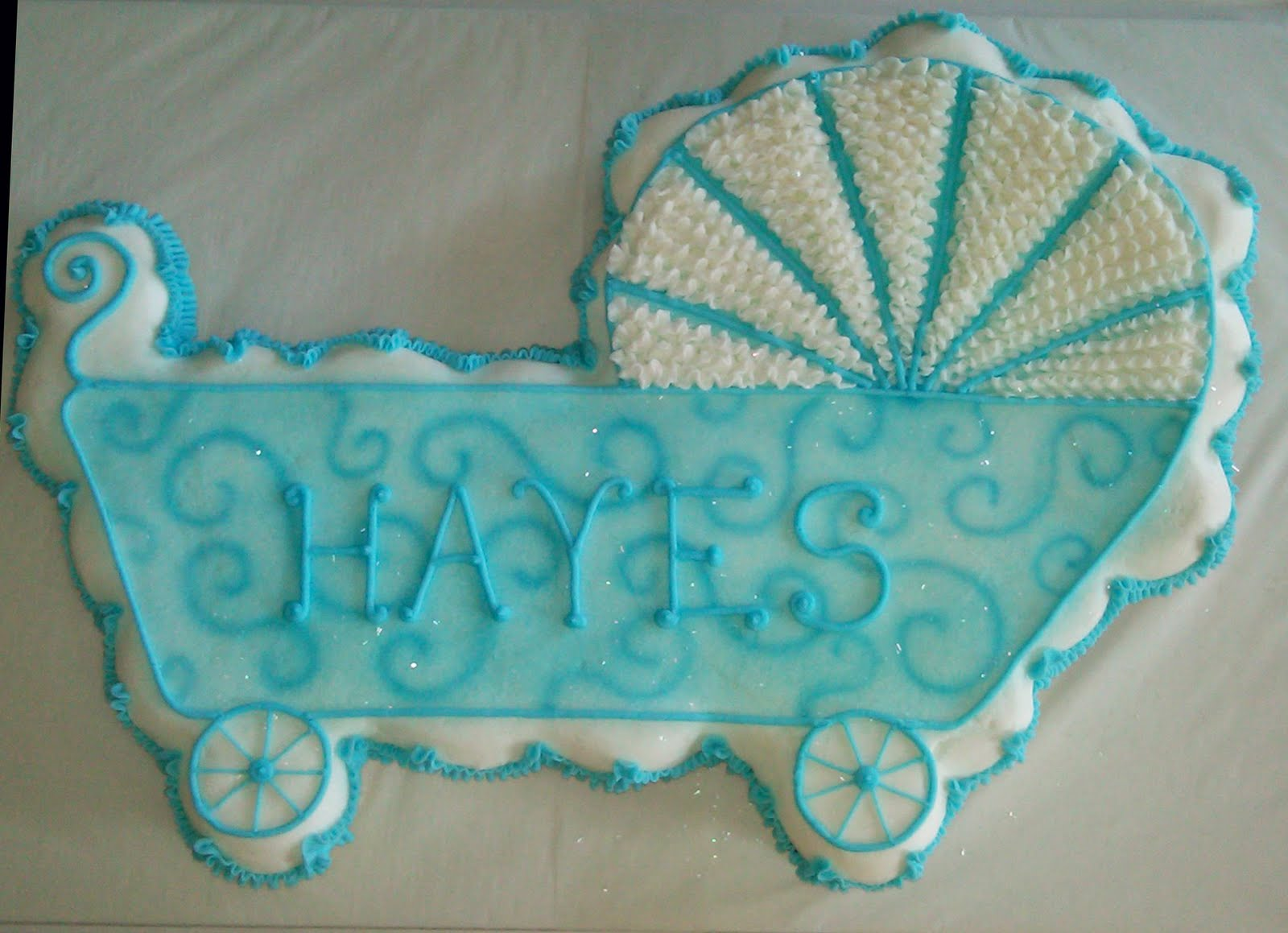 Home Style Bakery Baby Carriage Cupcake Cake