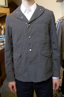 29b24c57cf5ec Woolrich Woolen Mills - Maine Guide Jacket in gray. DETAILS: Made from a  light and airy tropical wool material which is perfectly suited for warm or  heavy ...