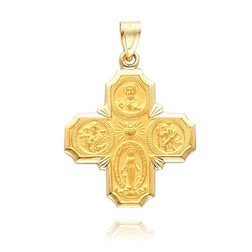 14K Gold Four-Way Medal