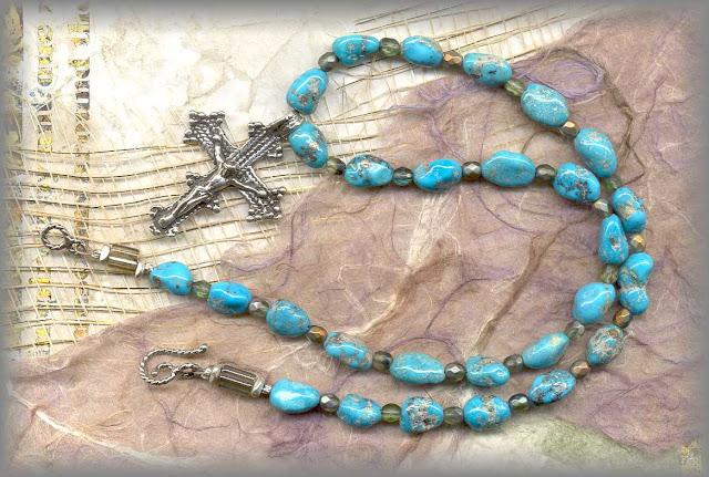 Antique Turquoise Cross