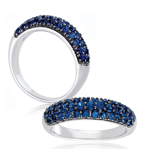 Lab-Created Blue Sapphire Ring