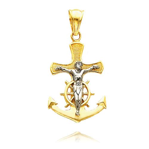 Gold Mariners Crucifix
