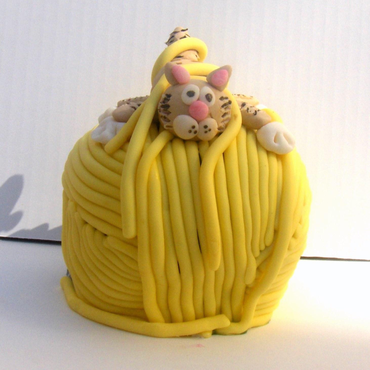 How To Make A Yarn Ball Cake