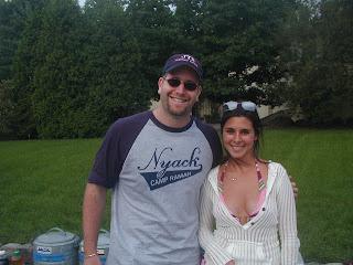 Jamie-Lynn Sigler (Sopranos) and Rabbi Jason Miller