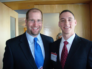 Rep. Josh Mandel and Rabbi Jason Miller at an AIPAC event