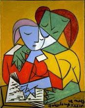 Dos niñas leyendo de P. Picasso.
