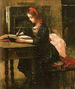 Niña leyendo de Jean Corot