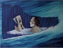 Leyendo en el mar.
