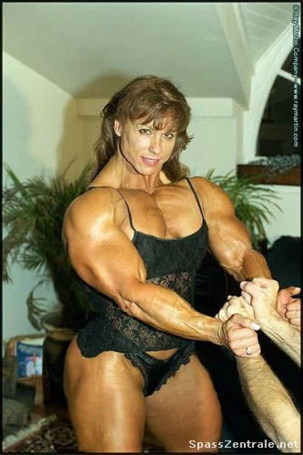 Sexy black female muscle