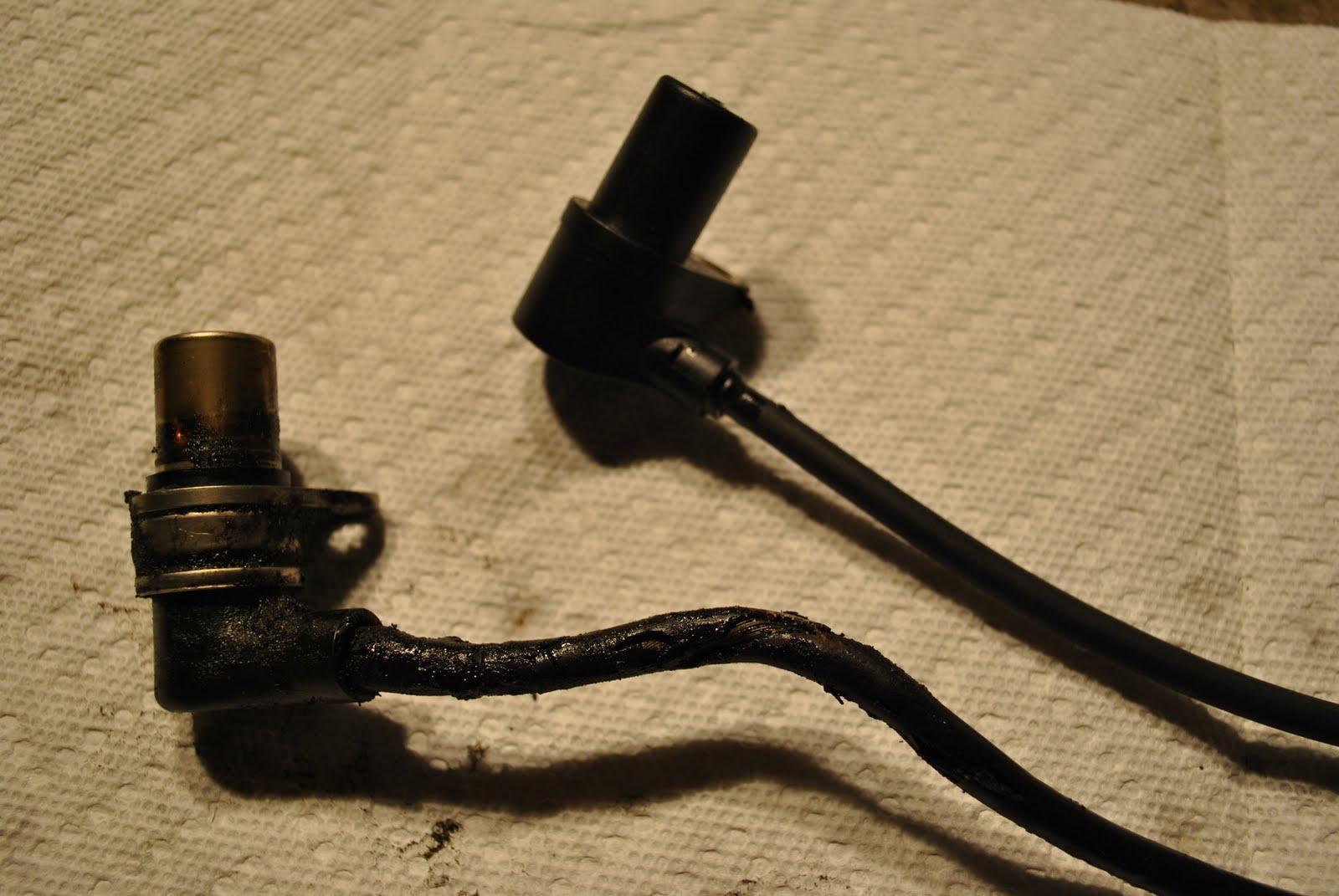 small resolution of old broken wiring harness vs new sensor