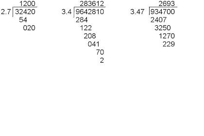Ejemplos De Divisiones Con Punto Decimal En El Divisor