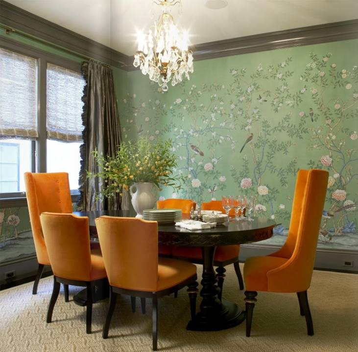 Dining Room Orange: MWM Interior Design - Interior Design Wallpapers