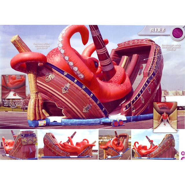 Inflatable Kraken Slide: Look At This Fucking Kraken: Look At These Kraken