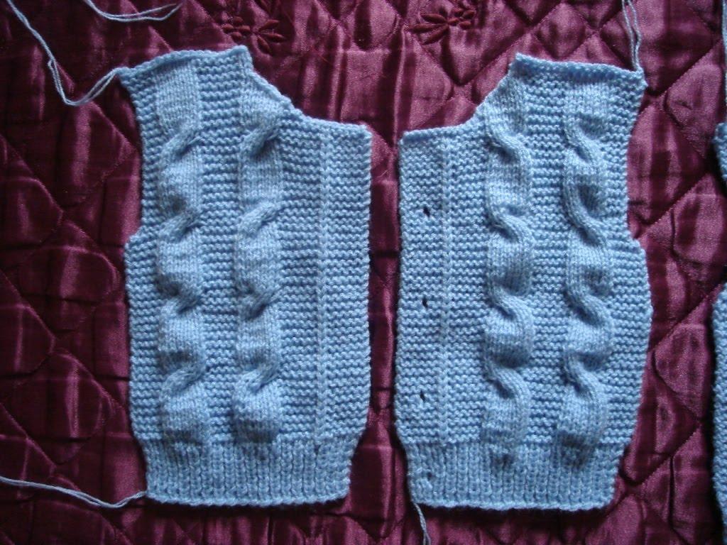 Oficina da Regina.......: Casaco de tricô para crianças de ...