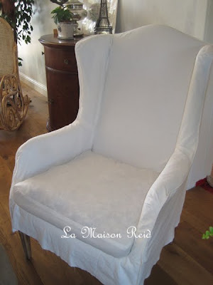 How To Make Slipcover For Wingback Chair Cover Hire Wedding La Maison Reid: Winging It: A White With Twist