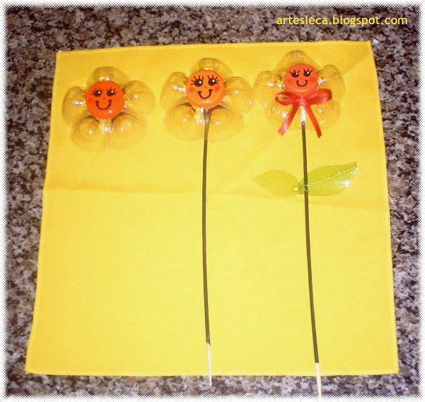 Passo-a-Passo 3 para fazer as flores de PET