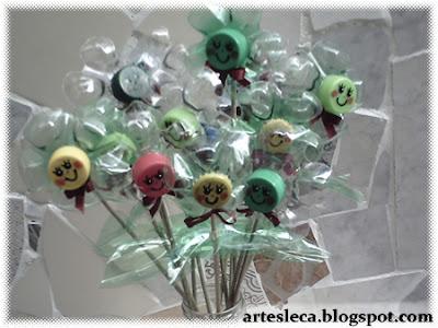 Flores de Garrafa PET