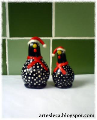 Galinhas de porongo (cabaça) de Natal