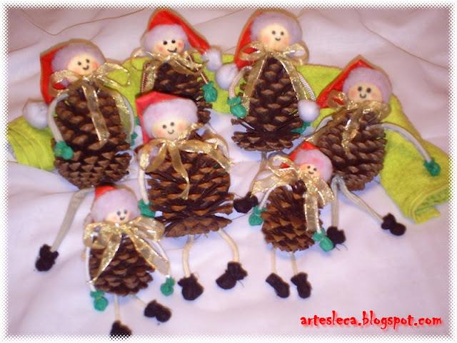 Lindos Bonequinhos de Pinha para o Natal