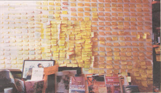 Will Self Dorian An Imitation post it notes wall ideas author cathode narcissus