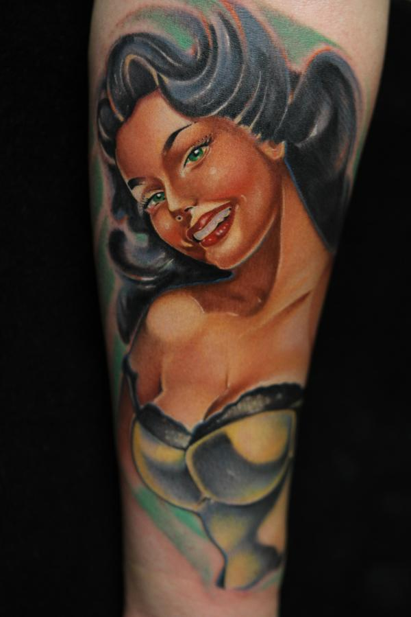 Pin Up Girl Old School