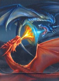 giant giant fire dragon vs ice dragon - photo #38