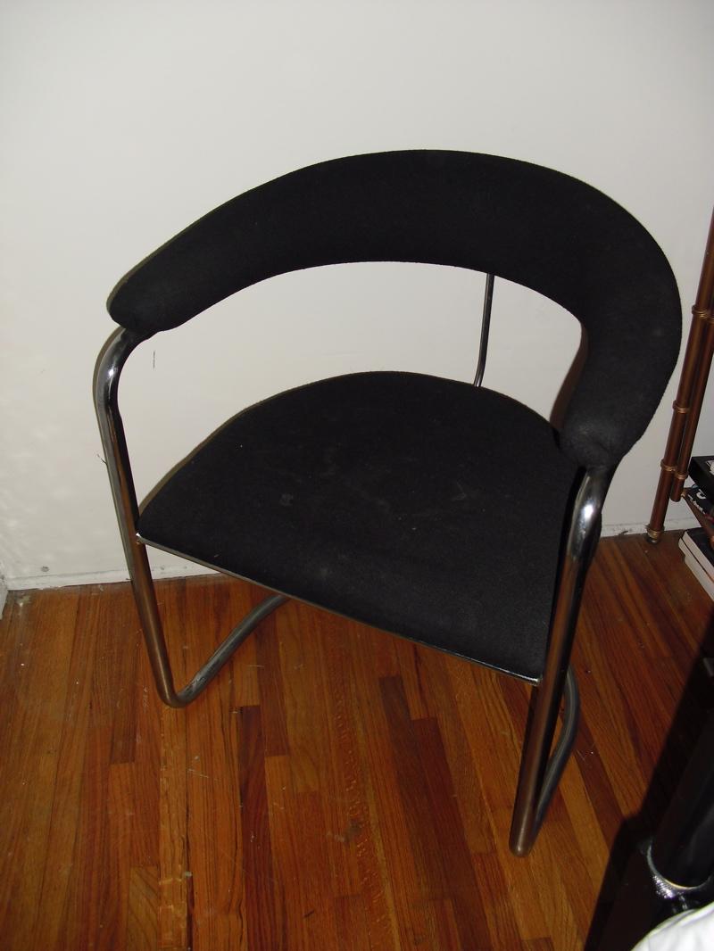 Retro Vinyl Chrome Dining Chairs  Chair Pads  Cushions