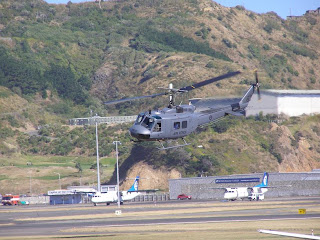 RNZAF Iroquois helicopter